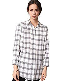 New Ann Taylor LOFT Women's - Wrinkle-Resistant Black  White Plaid Over-Sized Tunic Blouse online. Find the perfect Stetson Tops-Tees from top store. Sku VHCF45772PYDK59031