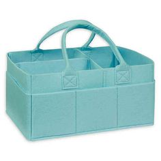 Bedside table bins - Sammy & Lou Felt Storage Caddy in Pale Aqua | Bed Bath & Beyond