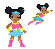 Illustration about Vector illustration on white background. Illustration of party, standing, flight - 73344080 Black Love Art, Black Girl Art, Art Girl, Superhero Girl, Superhero Classroom, African American Girl, African Girl, Black Girl Cartoon, Cute Cartoon