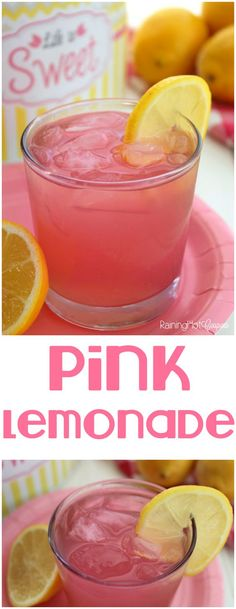 Pink Lemonade - This is the perfect Summer drink and the best pink lemonade recipe I've had!