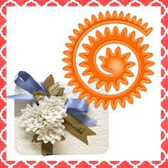 SPIRAL BLOSSOMS #3 Dies Spellbinders Nestabilities for Cuttlebug Sizzix Quickutz- amazing chrysanthemum or aster