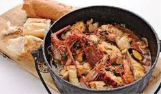 Luxury Seafood Potjie Recipe - Cape Town Fish Market - South Africa's Premier Seafood Restaurant - It Doesn't Get Any Fresher Seafood Stew, Seafood Restaurant, Seafood Recipes, Vegan Recipes, Cooking Recipes, South African Recipes, Ethnic Recipes, Chilli Jam, Sushi Restaurants