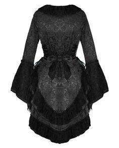 vintage coat with corset pattern | ... EDWARDIAN BLACK JACKET DAMASK TAIL COAT CORSET GOTHIC STEAMPUNK VTG