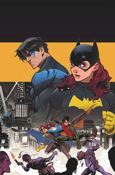 Nightwing & Batgirl. Dick Grayson & Barbara Gordon.