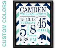 ✭Birth Announcement Wall Art Nursery Decor Baby Boy Gift Navy Blue Burlap Personalized Baby Wall Art Birth Stats Print Nursery Custom Birth Print ✭This listing includes 1 8x10 PRINT. Any other size is also available digitally (i.e.: 11x14, 16x20, etc.) If purchasing the digital file, you will receive a high-quality PDF image to either print at home or at your selected print shop. I would recommend printing on a white, heavyweight matte paper/card stock and selecting a frame for display o...