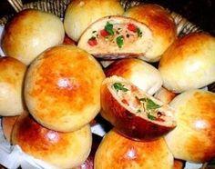 Receita de Pãozinho de batata recheado com frango e catupiry - Ideal Receitas