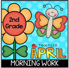 April Morning Work 2nd - Earth Day, plants, insects, weather, and other spring topics are included with the April morning messages.  paid