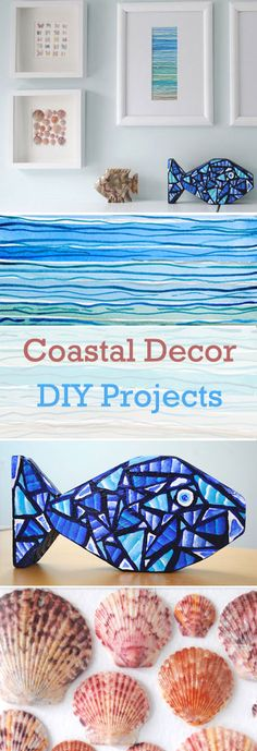 Coastal Decor: easy DIY projects to create a great beachy look. Brought to you by Creative in Chicago  http://www.creativeinchicago.com/2014/01/coatal-themed-vingette.html