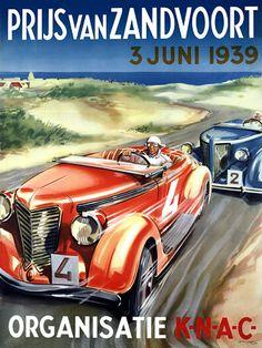 Motor Racing Event Holland. 1939 http://www.vintagevenus.com.au/vintage/reprints/info/TR304.htm