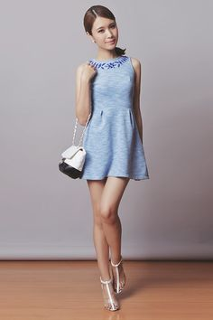 Tricia Gosingtian - Just G Dress, Choies Heels - 021814 Summer Outfits Women, Simple Outfits, Summer Dresses, Tricia Gosingtian, Outfit Goals, Outfit Ideas, Japanese Fashion, Everyday Outfits, Skater Dress