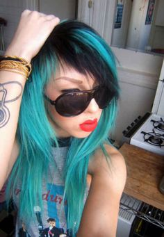 Thinking about dying my hair a blue or red