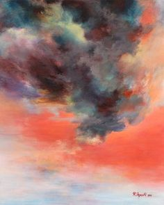 I am in love with this entire series of paintings. Do check out the others, especially - Boulogne Forest  from the Passions series.  This one - Today's Sky -was especially fitting for today.