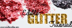 Edible Glitter Tutorial - Avalon Cakes OK, This seemed like an awful tentative process.......BUT ABSOLUTELY FASCINATING TO READ.......How did they ever figure out how to do it!