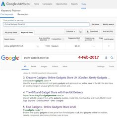 "Optimized Keyword ""Online Gadgets Store UK"" and get Top Rank for FineGadgets.co.uk on Google Search Results Page."