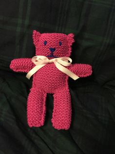 Pink teddy bear baby shower gifts valentines gifts by KnitNacksCo
