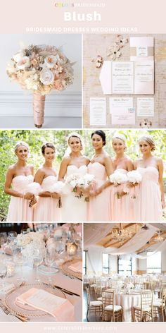 Vivid bridesmaid dresses - gain these advice from this spectacularly unique dress number 1239012718 here. Bridesmaid Bouquet White, Blush Bridesmaid Dresses, Wedding Bridesmaids, Wedding Dresses, White Bouquets, Blue And Blush Wedding, Blush Pink, Gold Wedding Decorations, Lace Wedding Invitations