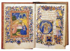 Book of Hours: <i> Book of Hours for the Use of Rome,</i> folio 14v-15r, by Zanobi Strozzi, c. 1445