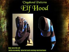 Elf Hood scarf PDF sewing pattern with 2 variations and 25 page tutorial by Vagabond Patterns