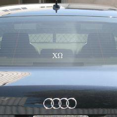 Chi Omega Sorority Car Window Sticker $4.95