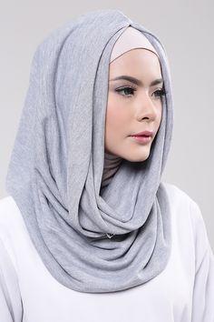 Grey Hijab Style Tutorial, Muslim Dress, Hijab Fashion, Lacoste, Shawl, Hoodie, Grey, Ann, Shopping