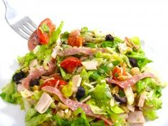 """La Scala's Famous Chopped Salad made """"skinny"""".....from skinny kitchen"""