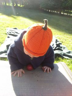 Knitted Baby Hat  Adorable Little Pumpkin Baby Hat by UpNorthKnits