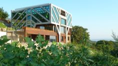 Ignatov Architects designed the 'Conservatory House' in Bulgaria. http://en.51arch.com/2014/03/a3070-conservatory-house/