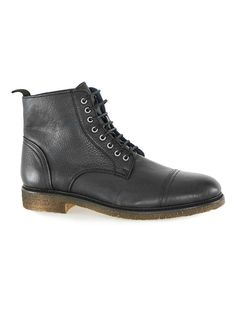 UNION Black Leather Toecap Boots - Men's Boots - Shoes and Accessories - TOPMAN