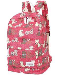 703bb577500 Amazon.com   Mygreen Lightweight Leisure Dot 14 Inch Laptop Backpacks Cute  Girls Canvas School. Laptop BackpackPreppy BackpackLaptop BagsSchool ...