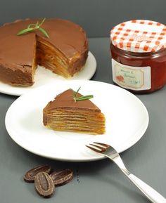 ANTICIPANDO IDEAS PARA QUE EL DÍA DE LA CHANDELEUR/CANDELARIA: LAYER CAKE DE CREPS, MERMELADA DE ALBARICOQUE Y CHOCOLATE