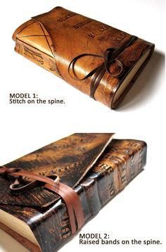 Personalized Leather Journal Handmade Summum Meditatio by codice, €48.00