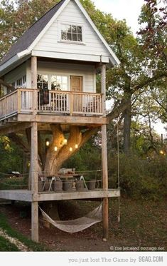 I'm thinking my office on the back of our house, or maybe a party tree house?