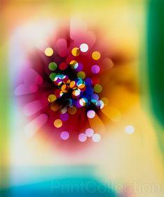 """PrintCollection - Photogram """"Light Struck (Red/Magenta/Green Edges/Darker Version)"""""""