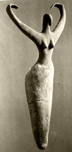 Female Figure, from Ma'mariya, Egypt Created circa 3500 B.C.E., Brooklyn Museum