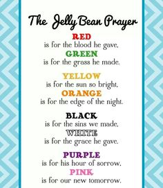Printable easter story trivia game easter story trivia games the jellybean prayer negle Images