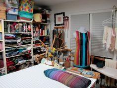 Daryl Lancaster's weaving studio