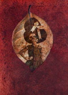 """Memento Mori Bis"" Digital Collage - Illustrati N°11 ""Difoglieuncaderefragile""- Logos Edizioni 2012"