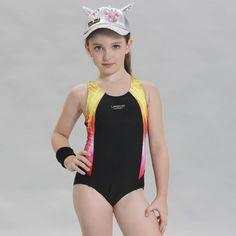 fcf8c8723f1 Aliexpress.com : Buy Swimwear Girl One Piece Swimsuits Kids Girl Sports  Swimsuit for Child Patchwork One Piece Bathing Suit Girls Print Swimwear  Kids from ...