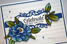 Flower Band, Stampin Up Catalog, Flower Center, Embossed Cards, Stamping Up Cards, Blossoms, Handmade Cards, Birthday Cards, Cards