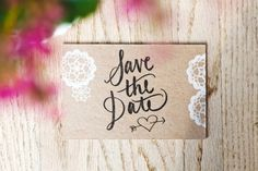 vintage inspired save the date!
