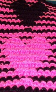 3d illusion afghan block pattern | ... and Knit: SmoothFoxs Crochet Illusion Heart Scarf- Free Pattern