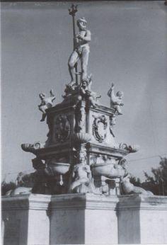 Neptune fountain at Malaga Cove plaza in Palos Verdes California.
