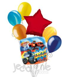 Blaze & the Monster Machines Happy Birthday Balloon Bouquet