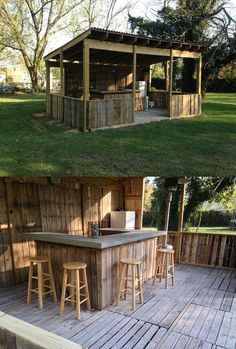 International Timber — Outdoor bar / kitchen area - Love this, wish it...