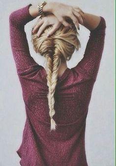 Trenza cola de pez alta. #hairstyle #peinados #trenza