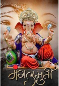 Shri Ganesh Images, Ganesha Pictures, Ganesh Idol, Shree Ganesh, Ganesha Painting, Ganpati Bappa, Lord Ganesha, Princess Zelda, Faith