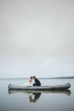 Lake Wedding, Northern Minnesota, Canoe, Love