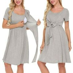 Outstanding Pregnant mom tips are offered on our site. Check it out and you wont be sorry you did. Maternity Nursing Dress, Breastfeeding Clothes, Nursing Clothes, Maternity Wear, Maternity Dresses, Pregnant Dresses, Nursing Robe, Maternity Dress Pattern, Breastfeeding Tattoo