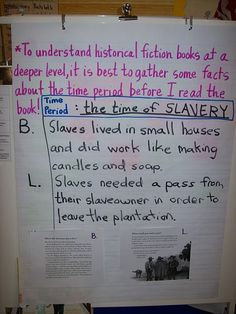 Historical fiction & research - Using non-fiction mentor texts, build background knowledge about a time period or historical figure before beginning the fictional book.