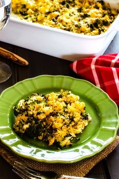 Broccoli Quinoa Casserole;  I may have to try using quinoa in the holiday green rice recipe...hmm...